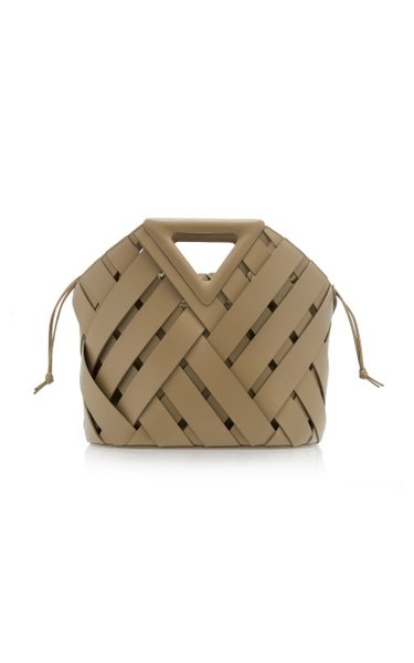 The Point Leather Woven Tote
