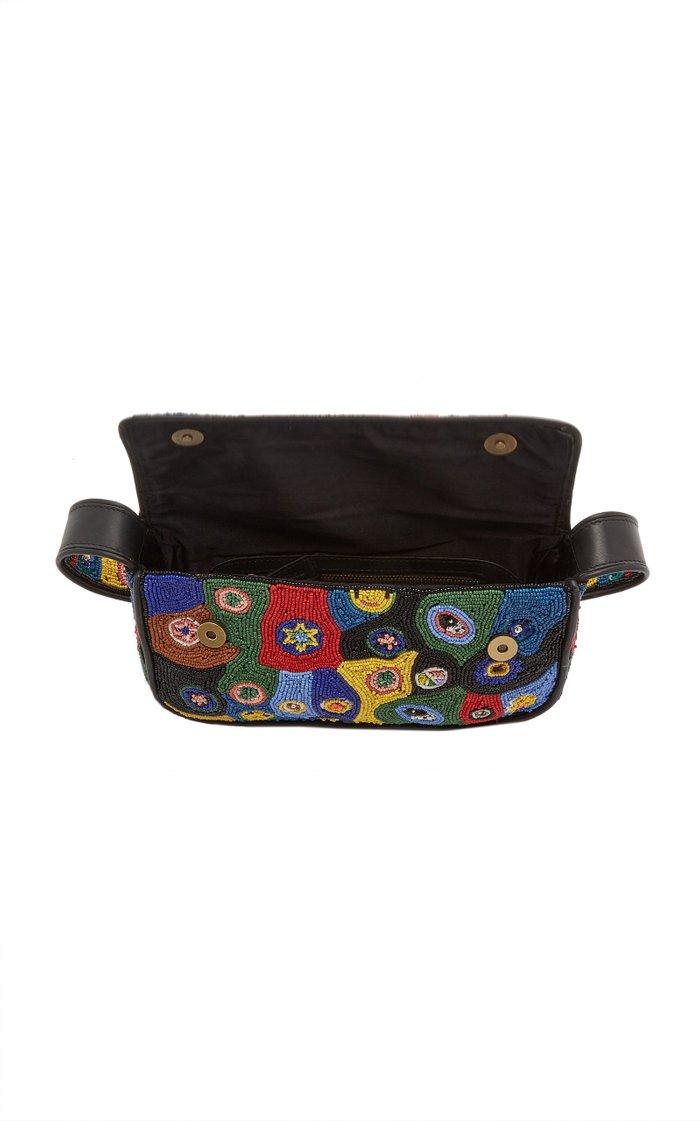 Tommy Beaded Leather Shoulder Bag