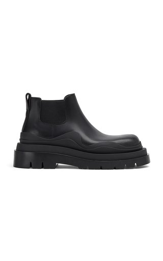The Tire Short Leather Ankle Boots