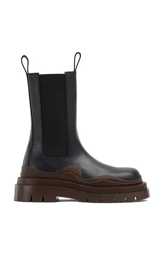 The Tire Leather Ankle Boots