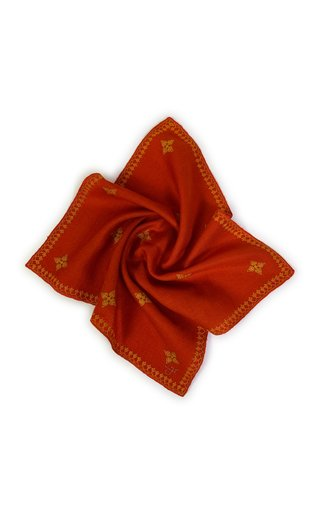 Tomato Kingri Buti Pocket Square
