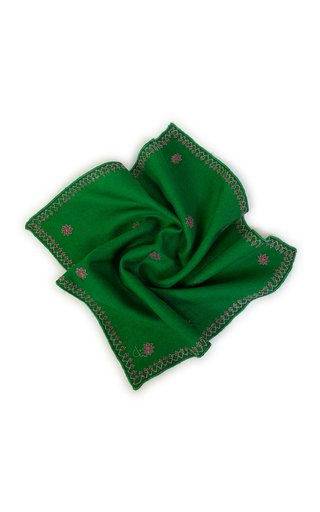 Emerald Kingri Buti Pocket Square