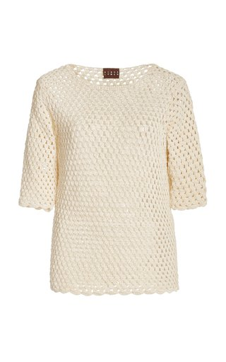 Crochet Knit T-Shirt
