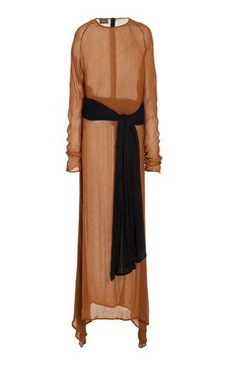 Mare Contrast Double Wrap Waist Dress
