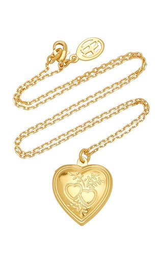 Heart Locket Gold-Plated Necklace