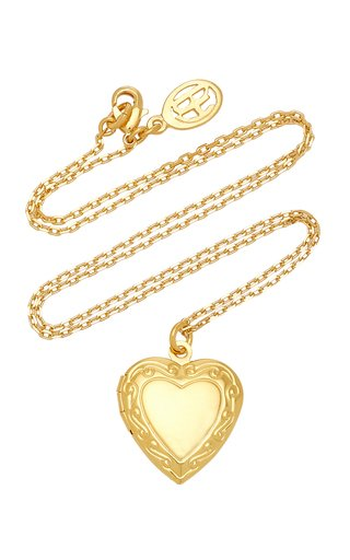 Medium Heart Locket Gold-Plated Necklace