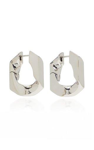 Unit 16K Platinum-Plated Hoop Earrings