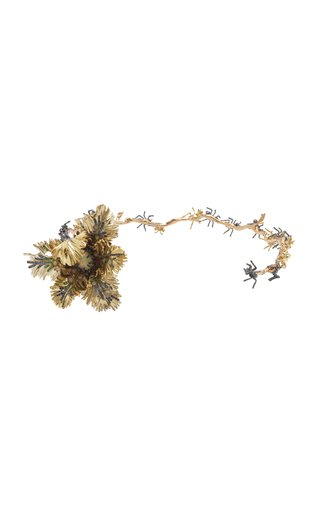Tulip and Ant 18K Gold, Sterling Silver Multi-Stone Choker