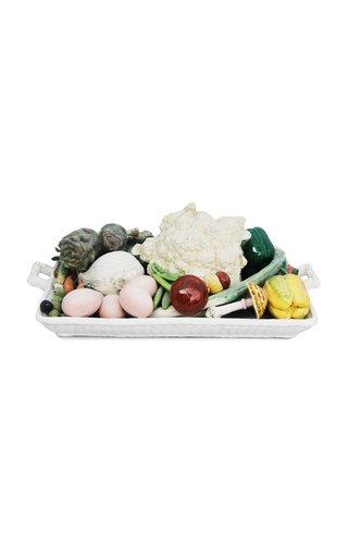 Handpainted Ceramic Vegetable Tray