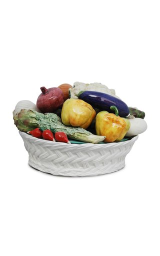 Farm-To-Table By MODA DOMUS, Handpainted Ceramic Vegetable Basket