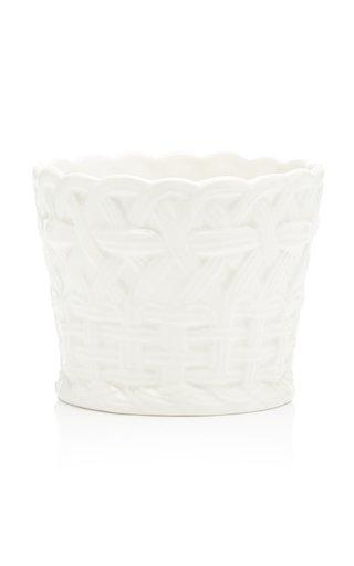 Handpainted Ceramic Small Basket
