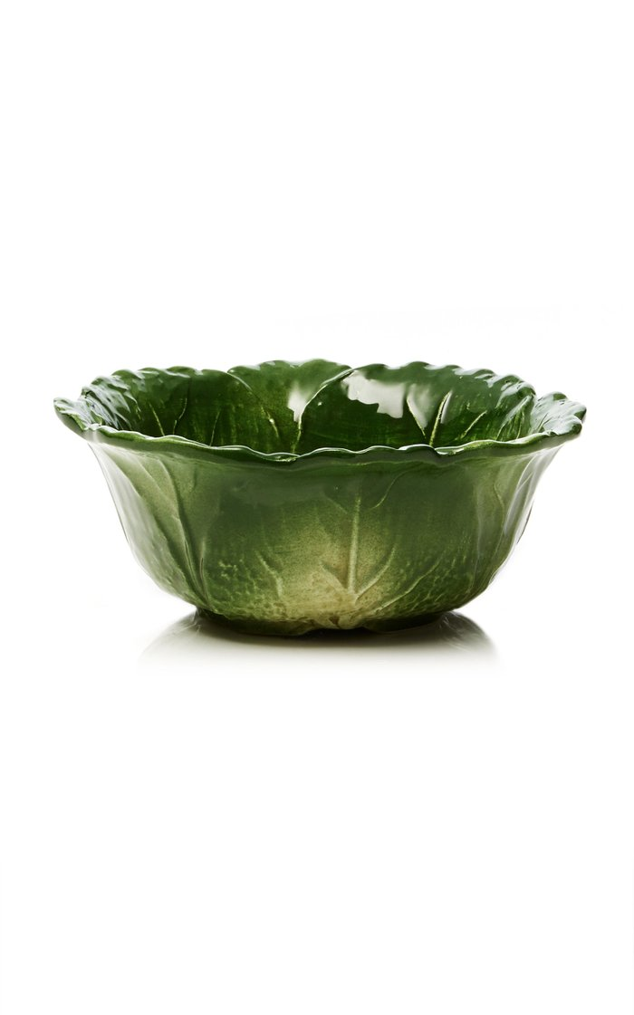 Farm-To-Table By MODA DOMUS, Set-Of-Four Small Handpainted Ceramic Cabbage Salad Bowls