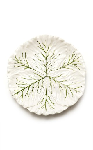 Farm-To-Table By MODA DOMUS, Set-Of-Four Handpainted Ceramic Cabbage Dinner Plates