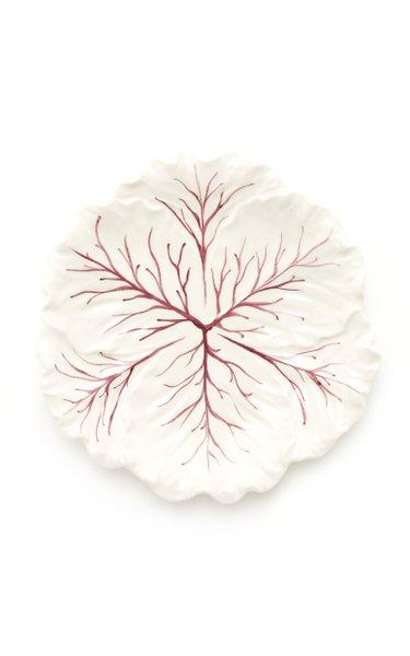 Set-Of-Four Painted Ceramic Cabbage Salad Plates