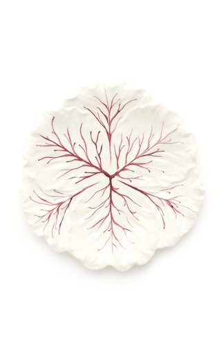Farm-To-Table By MODA DOMUS, Set-Of-Four Handpainted Ceramic Cabbage Salad Plates