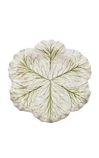 Farm-To-Table By MODA DOMUS, Handpainted Ceramic Cabbage Round Serving Plate