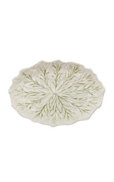 Farm-To-Table By MODA DOMUS, Handpainted Ceramic Cabbage Oval Serving Plate