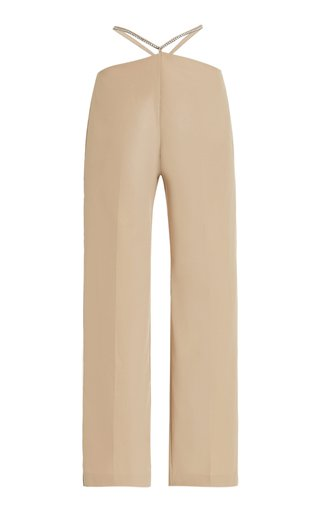 Crystal-Embellished Wool Trousers