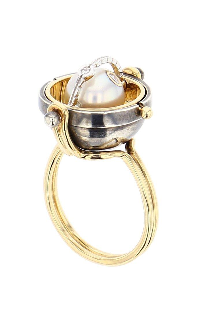 Sphère Akoya Pearl  ring