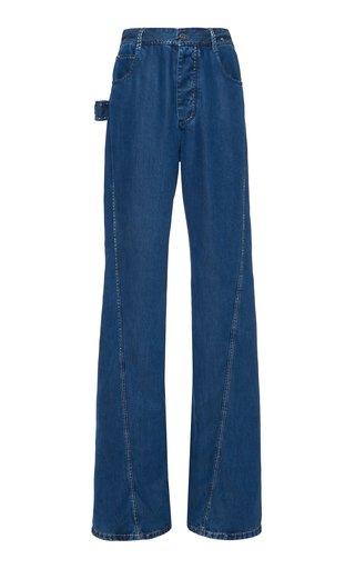 Rigid High-Rise Flared-Leg Jeans