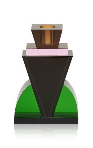 Queens Candleholder Green/Black/Rose/Brown