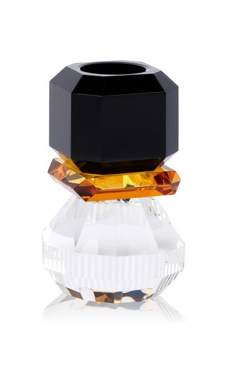 Phoenix T-Light Holder Black/Amber