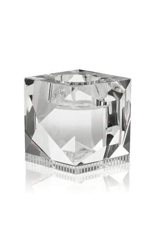 Ophelia Clear Crystal Candle Holder