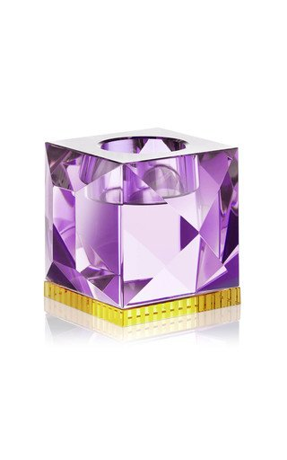 Ophelia T-Light Holder Purple & Yellow