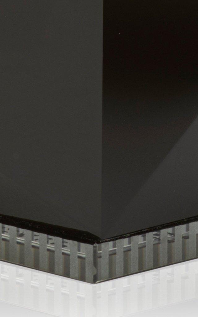 Ophelia T-Light Holder Black & Clear