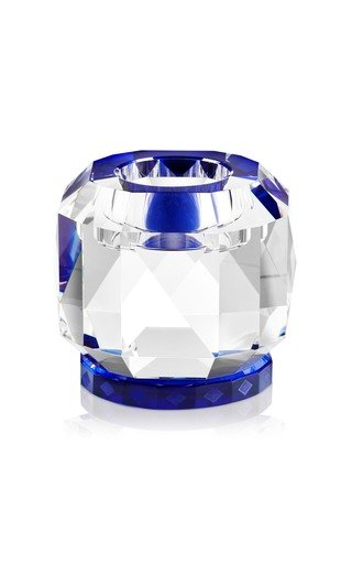 Texas Crystal T-Light Holder Clear/Cobalt