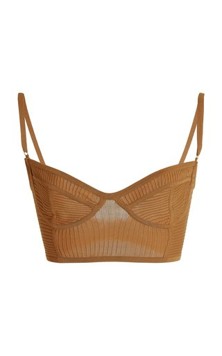 Bella Ribbed-Knit Bra Top