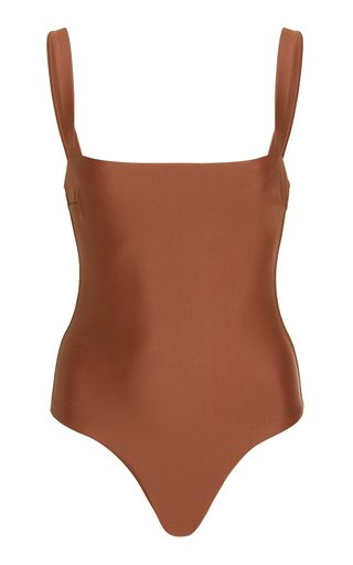 Square-Neck One-Piece Swimsuit