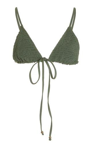 Kya Smockeed Triangle Bikini Top
