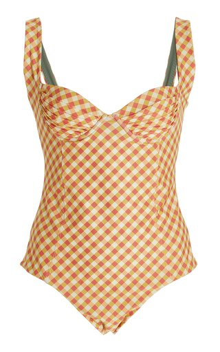 Kelly Gingham-Printed One-Piece