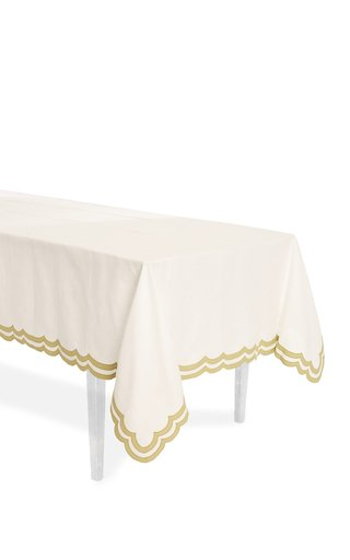 Double Rimmed Scallop Tablecloth