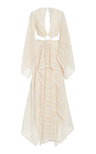 Jeanne Cutout Crochet Lace Maxi Dress