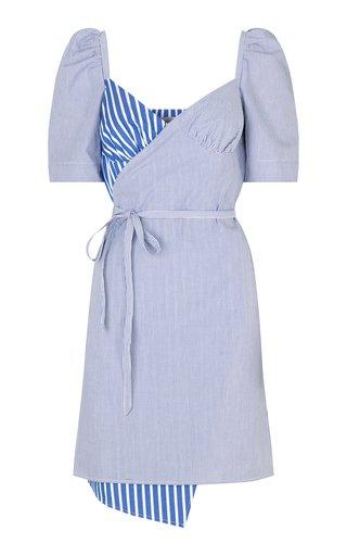 Arvia Striped Cotton Wrap Dress