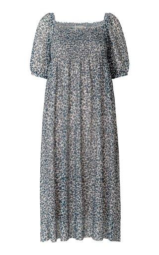 Judith Smocked Georgette Dress