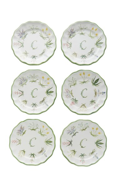 Exclusive Set-Of-Six Painted Ceramic Dinner Plates