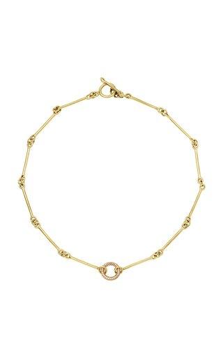 Signature 18k Gold Diamon Chain Necklace