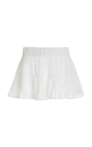Odetta Cotton Gauze Mini Shorts