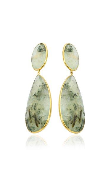 18K Yellow Gold Praynite Earrings