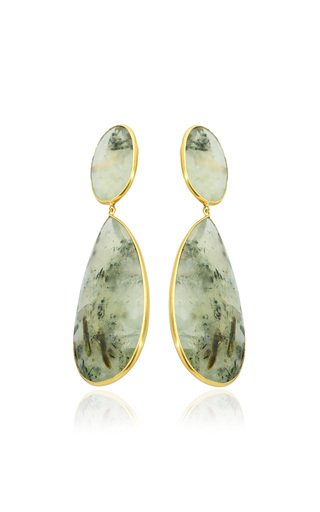 18K Yellow Gold Praynite Earrings
