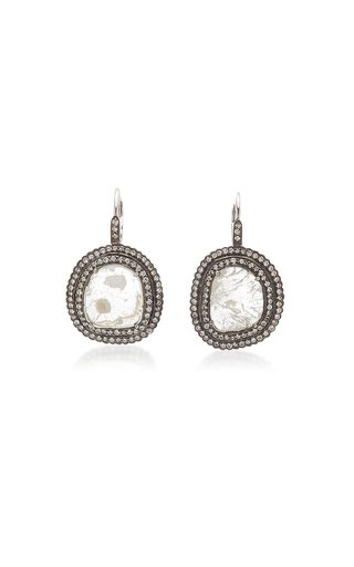 Victorian 18K White Gold Diamond Earrings
