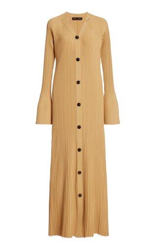 Ribbed-Knit Maxi Sweater Dress