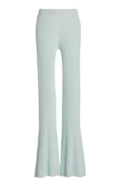 Midweight Rib Knit Flared Pants