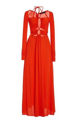 Drawstring Jersey Maxi Dress