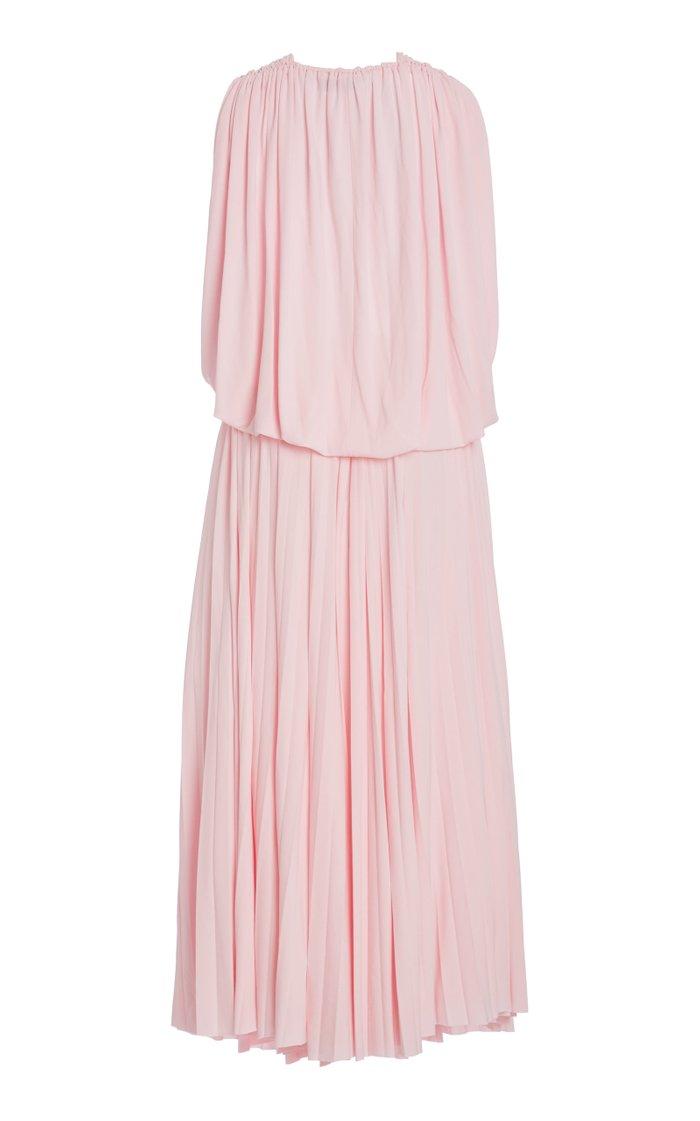 Cape Back Jersey Midi Dress