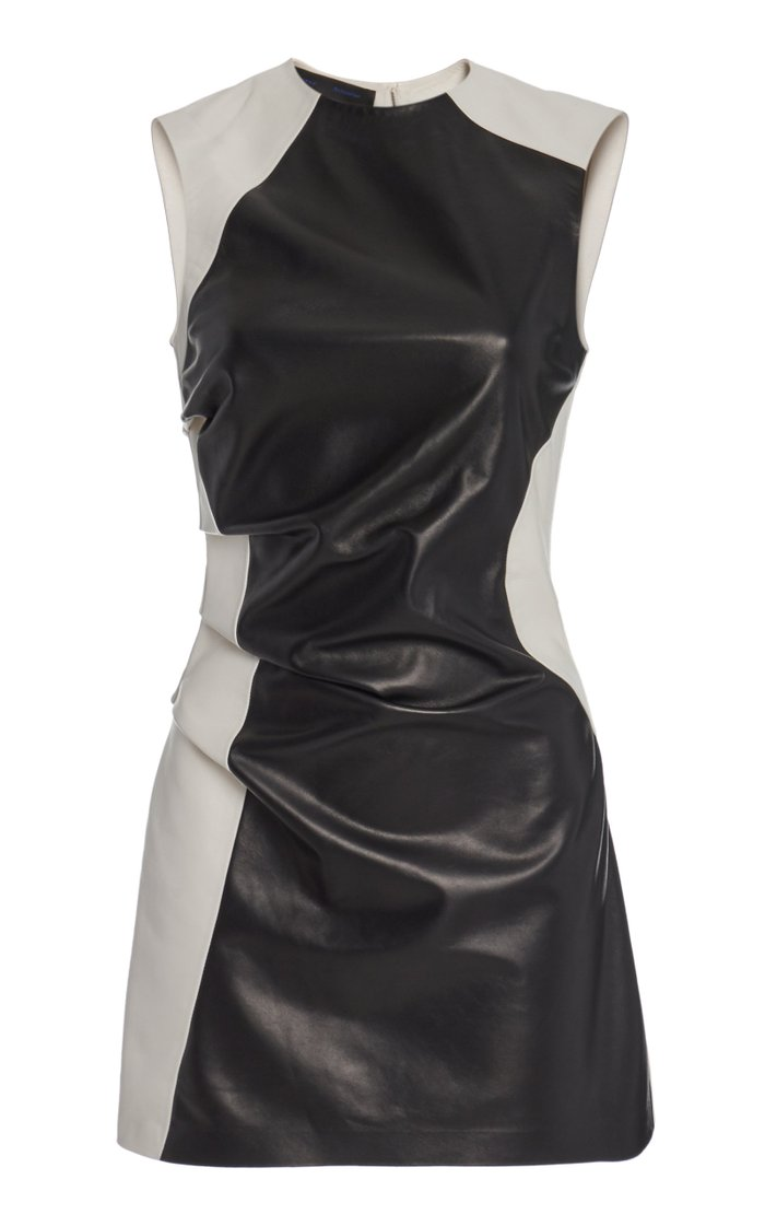 Leather Combo Tank Top