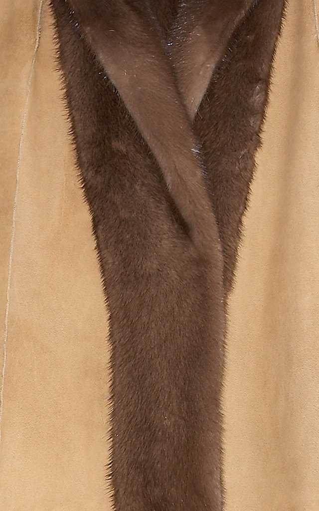 The Mila Suede Back Reversible Hooded Mink Coat